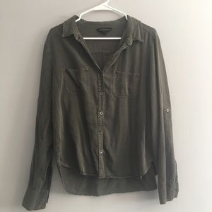 [Rock & Republic] Army Green Button Up Top